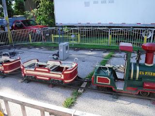 A mini-train carnival ride at the North Iowa Fair in Mason City