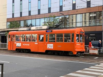 路面電車の大街道駅
