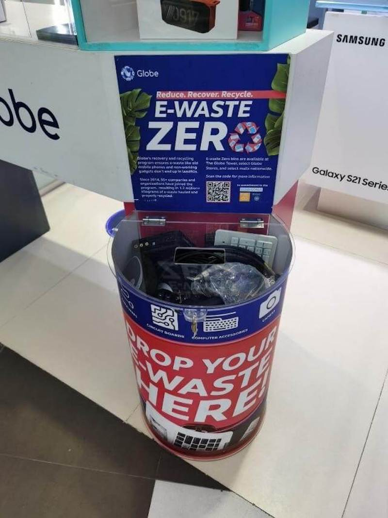 Actual Globe e-waste bin you can find at drop-off points