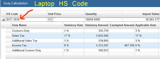 Import Duty on Laptops in Pakistan - Customs Duty on Laptops in Pakistan