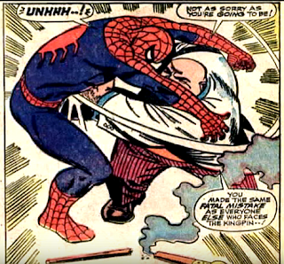 Amazing Spider-Man #51, john romita, the kingpin punches spidey in the stomach