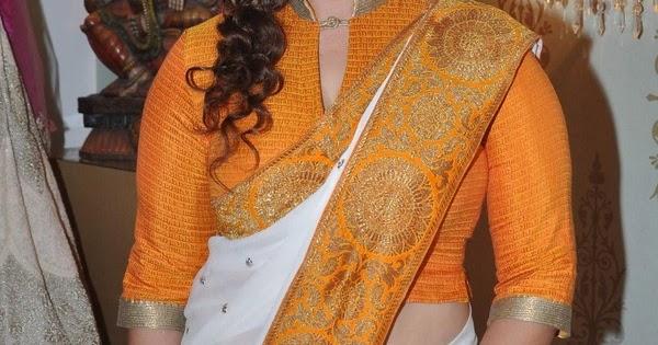 Beautiful Actress Nagma In Yellow Saree - Actress Doodles
