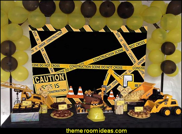 Dump Truck Digger Zone Boys Birthday Party Supplies Construction Scene Photo Background Photobooth Props