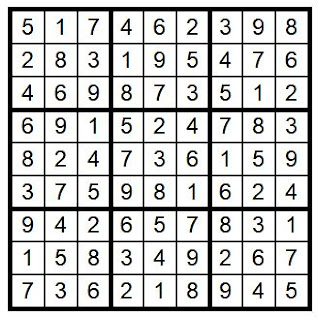 Answer Key Sudoku #32 Brain Training with Cats ©BionicBasil®