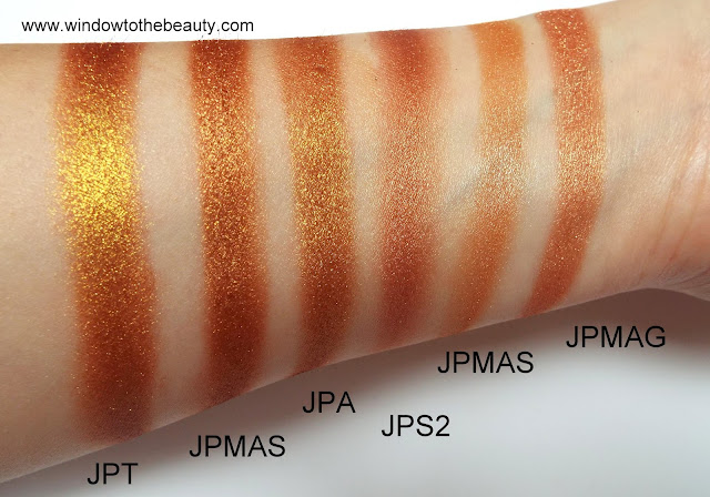 Juvia's Place brown metallic comparison