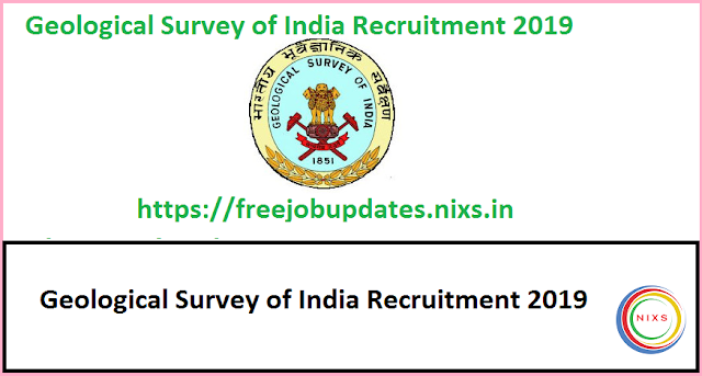 Geological Survey of India Recruitment 2019