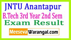 JNTU Anantapur B.Tech 3rd Year 2nd Sem (R13) Supply Dec 2016 Exam Results