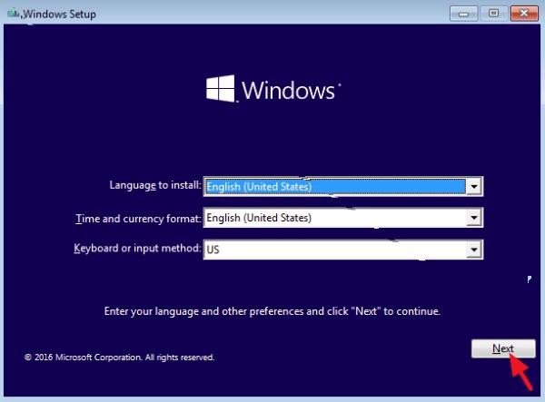 تحديد اعدادات اللغة والادخال في الويندوز 10