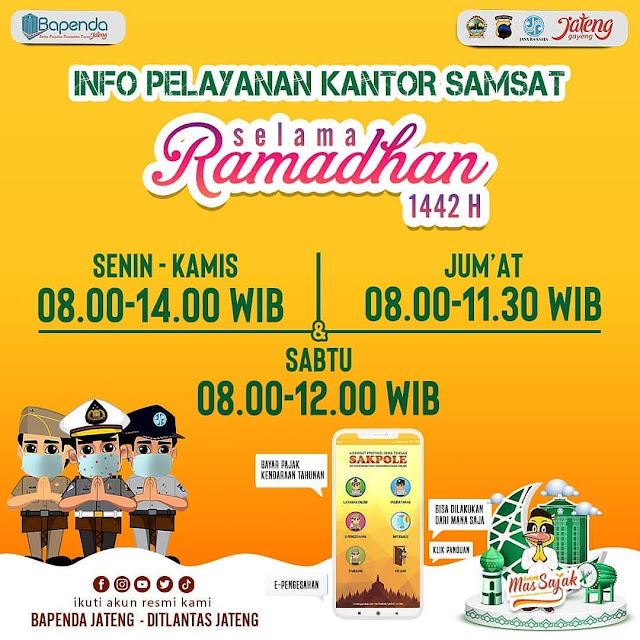 Info Pelayanan Kantor Samsat Rembang Selama Ramadhan 1442 Hijriah 2021 Masehi