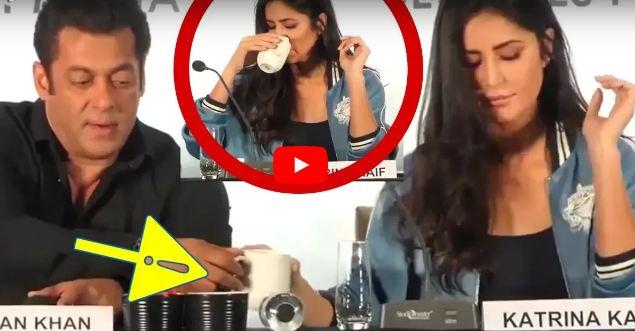 Salman Khan Shares His Coffee With Katrina Kaif At Da-Bangg Tour Pune Press Conferences