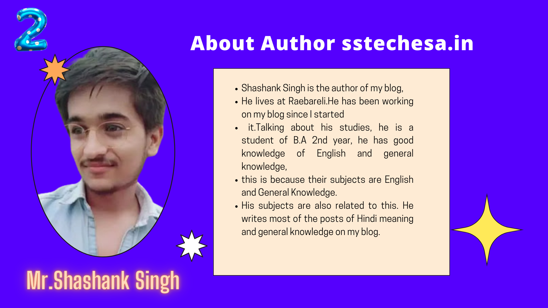 Mr. Shashank Singh