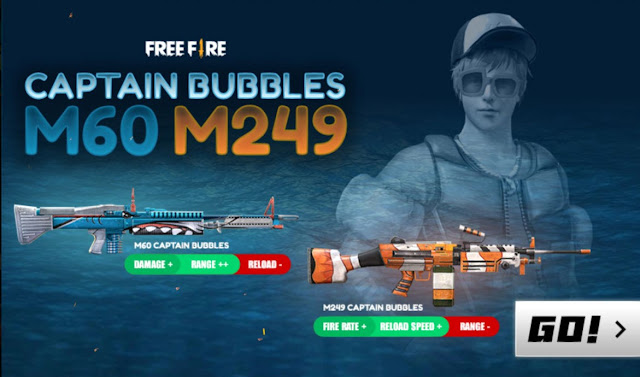 Event Weapon Royale Terbaru M60 Captain Bubbles Maxim