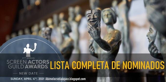 LISTA COMPLETA DE NOMINADOS A LOS SAG AWARDS 2021