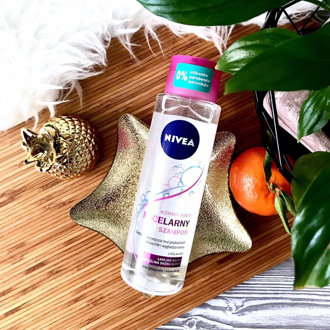 zdjęcie przedstawiające Nivea micelarny szampon wzmacniający