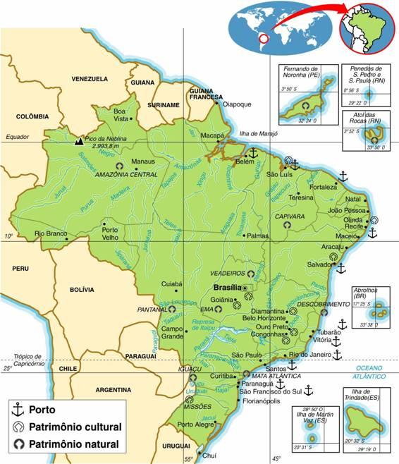 BRASIL - ASPECTOS GEOGRÁFICOS E SOCIAIS DO BRASIL