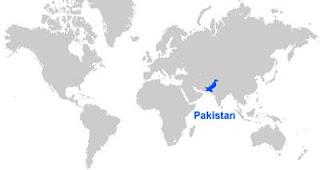 Gambar Peta letak Pakistan