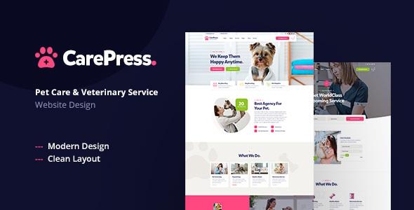 Pet Care & Veterinary Shop PSD Template