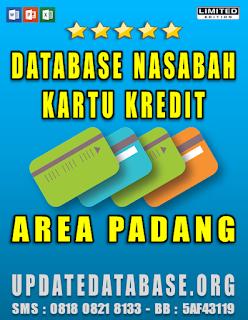 Jual Database Nasabah Kartu Kredit Padang