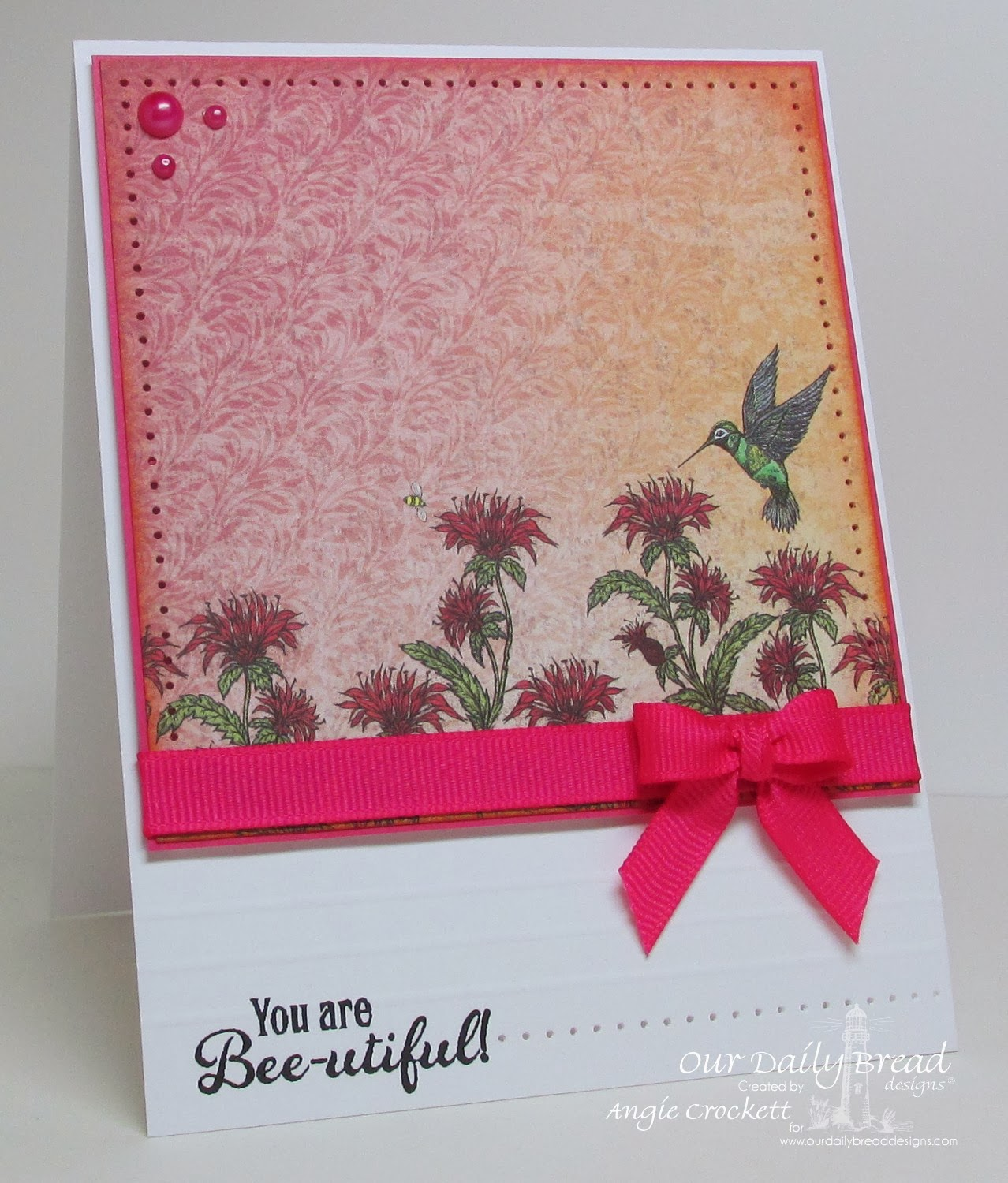ODBD Bee Happy, Blooming Garden Collection, Card Designer Angie Crockett