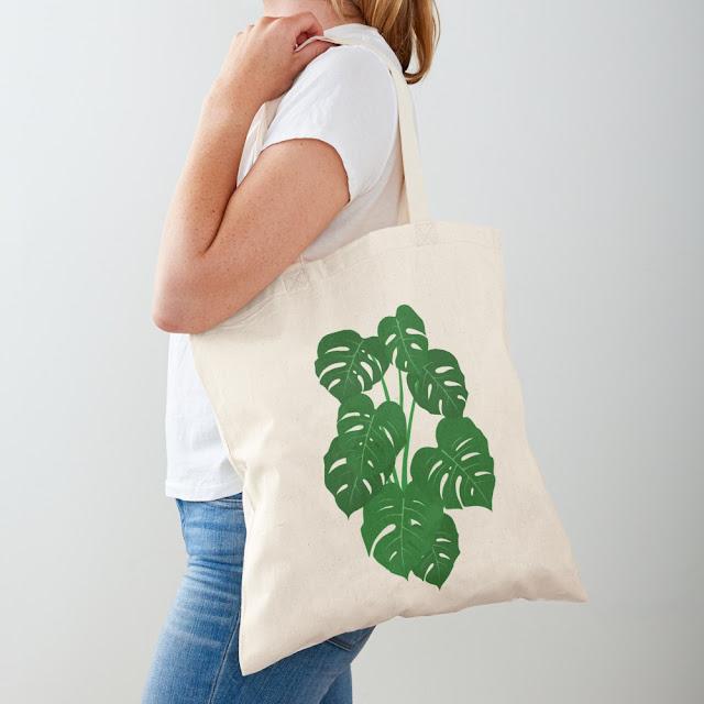 Monstera Deliciosa Design Tote Bag