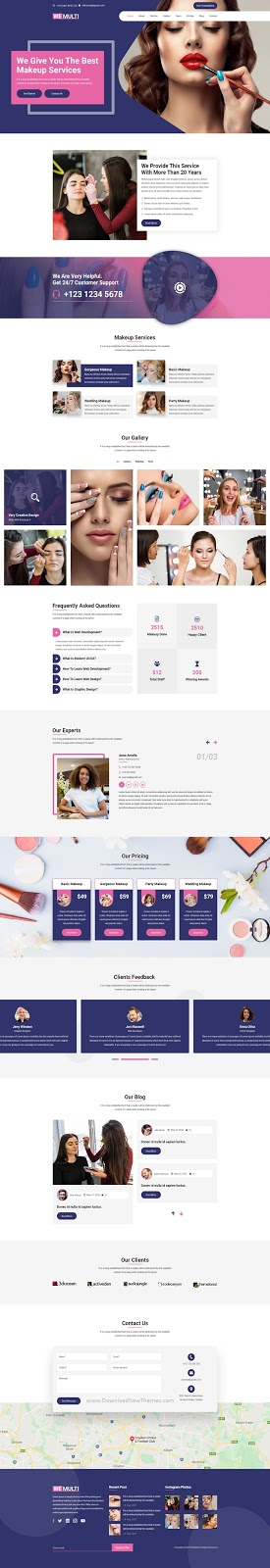 Beautician Multipurpose PSD Template