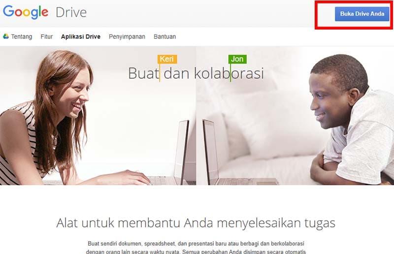 cara upload file ke google drive di laptop