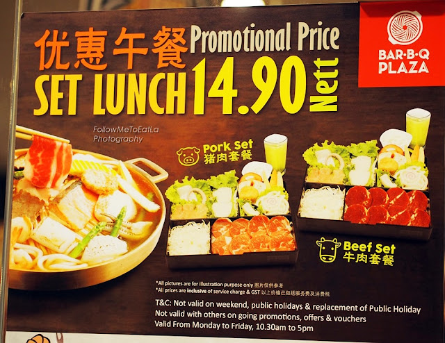 Promotional Price Of RM 14.90Nett For Set Lunch