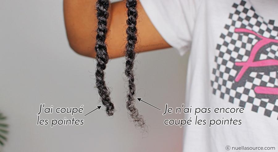Pointes abimées coupe cheveux crépus frisés bouclés