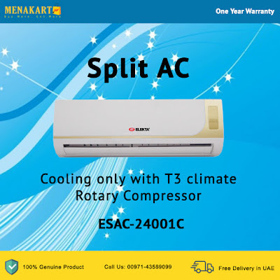 Split AC 24000 BTU Cooling only with T3 climate Rotary Compressor
