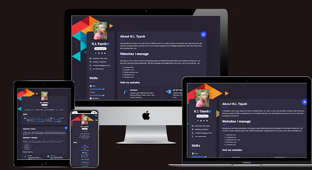 Profile Page Responsive Blogger Template