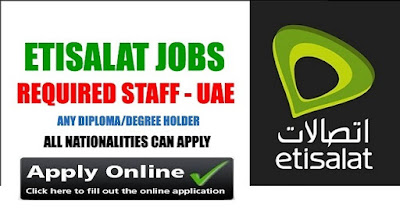 Latest Jobs In Etisalat Telecom Dubai