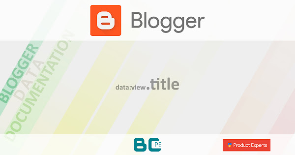 Blogger - data:view.title