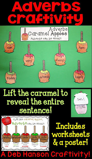 Adverb Craftivity- including a worksheet and a bonus poster!