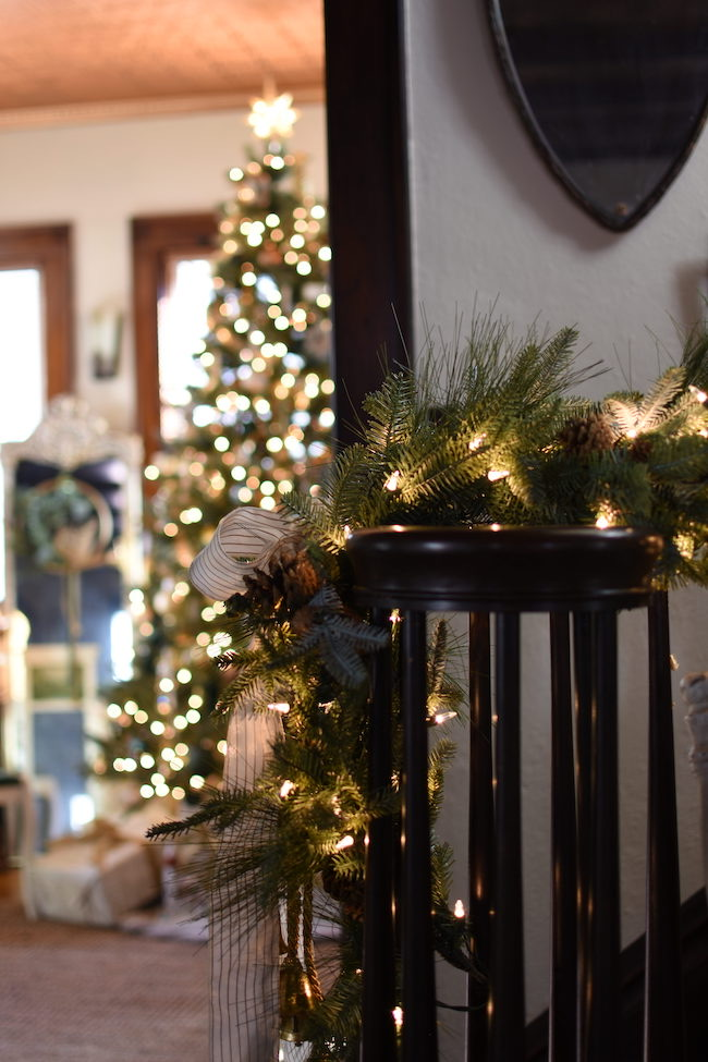 Simple and Elegant Old World and French Christmas Style by Follow the Yellow Brick Home featured at Pieced Pastimes
