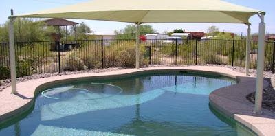 اشكال واعمال مظلات حمامات السباحة