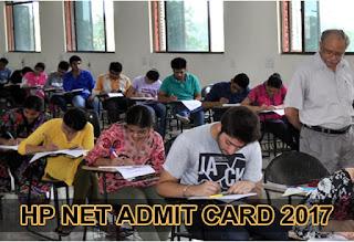 HP NET Admit Card 2017, HPNET Hall Ticket 2017