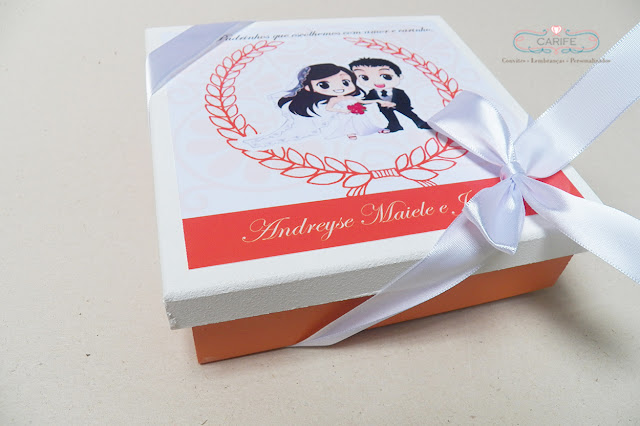 caixa para madrinha de casamento