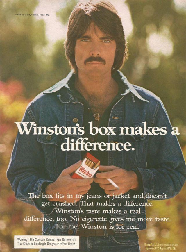 11 Pornstache Cigarette Ads From The 1970s