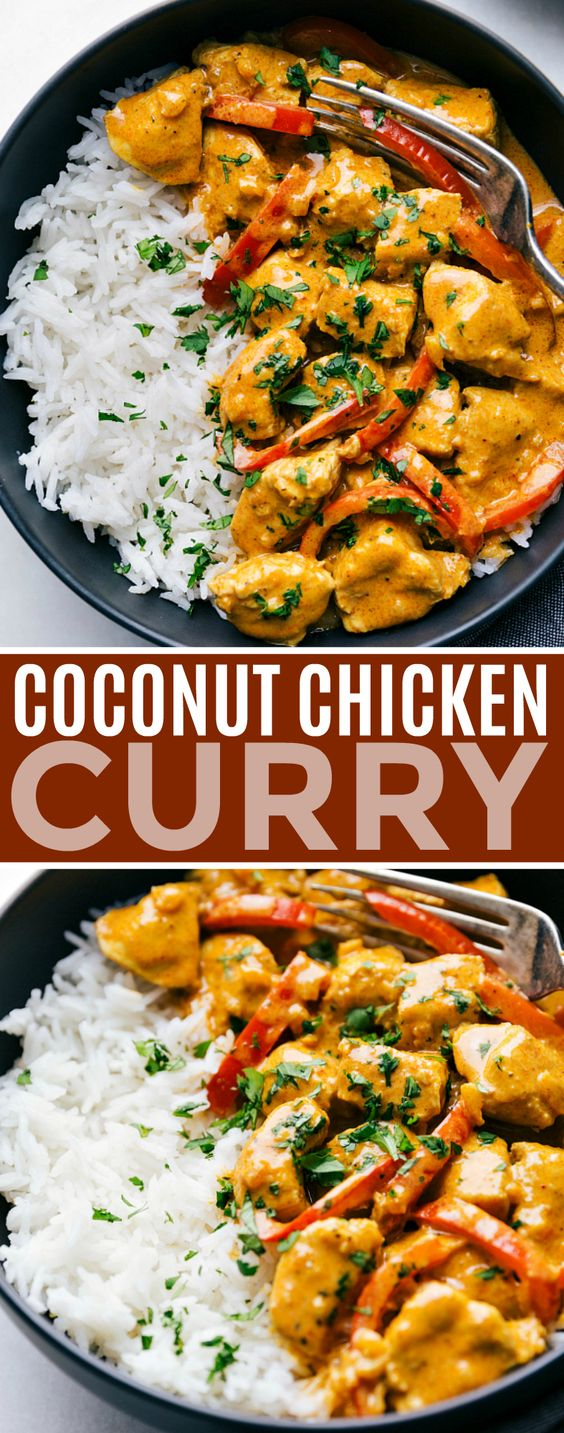 COCONUT CURRY CHICKEN #recipes #dinnerideas #foodideas #foodideasfordinnereasy #food #foodporn #healthy #yummy #instafood #foodie #delicious #dinner #breakfast #dessert #lunch #vegan #cake #eatclean #homemade #diet #healthyfood #cleaneating #foodstagram