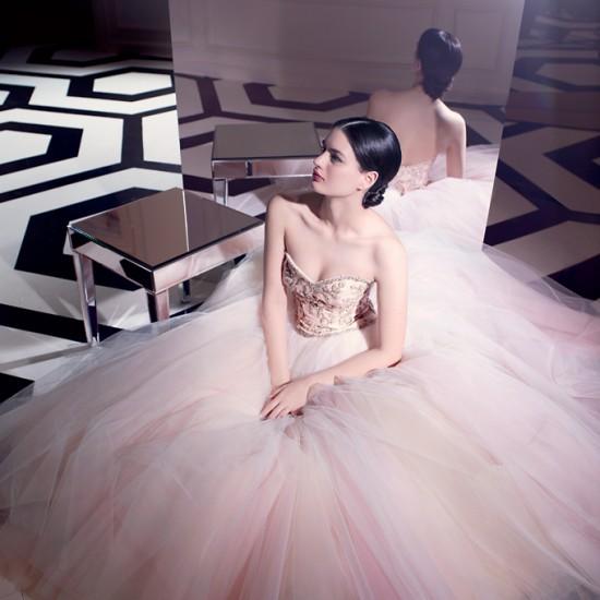 Blush Lazaro Wedding Gown: Beautiful Life: Dreamy Pastel Bridal Dresses