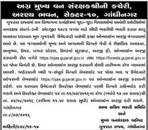 Gujarat Forest Department Recruitment 2016 for Forest Guard