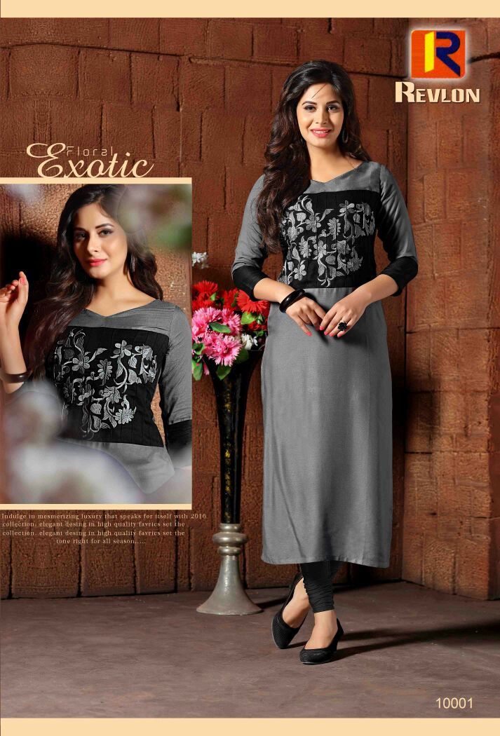 Revlon – Latest New Collection Straight long Kurti