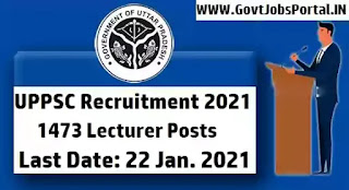 UPPSC Lecturer Recruitment 2021
