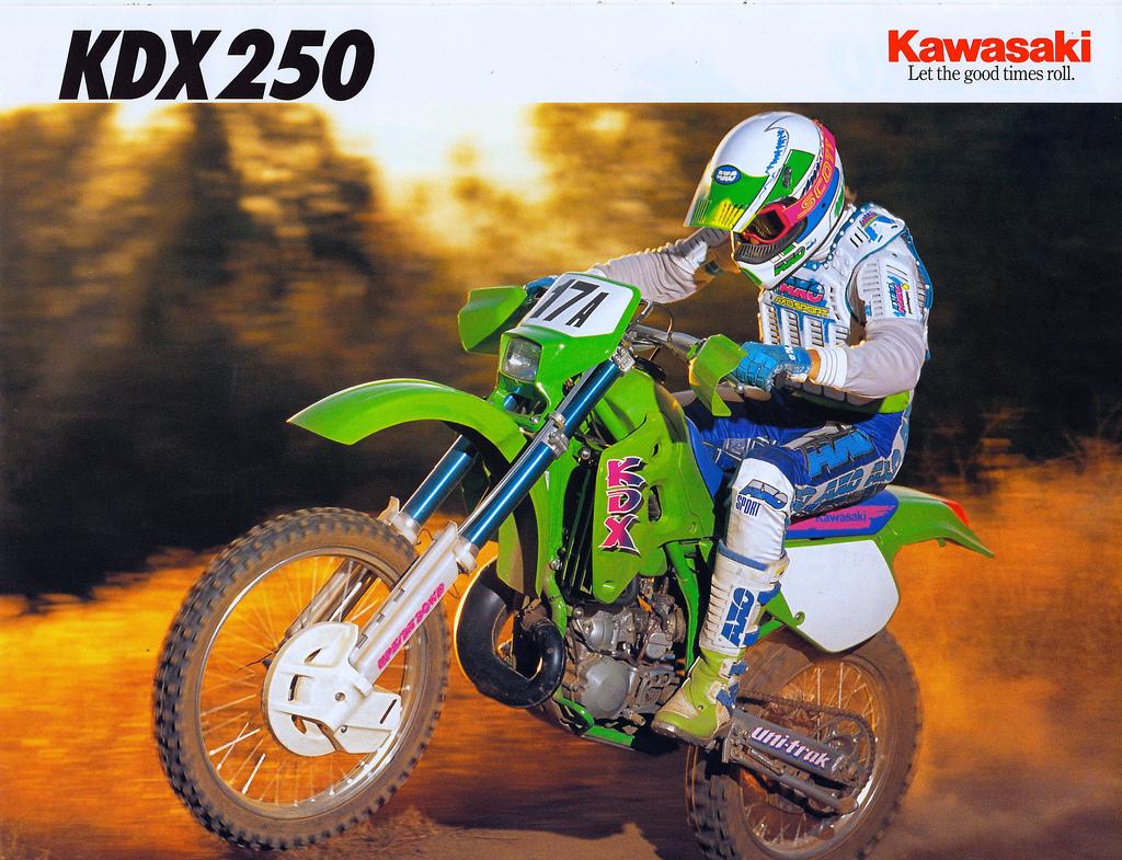 Vintage Brochures: Kawasaki KDX 250 1991