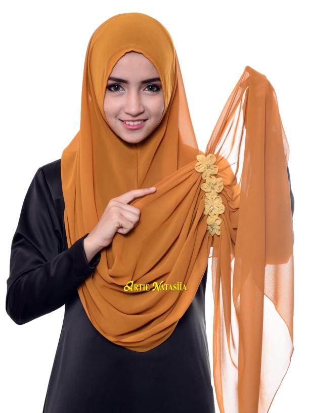 tutorial cara pakai tudung instant shawl 2 muka loops