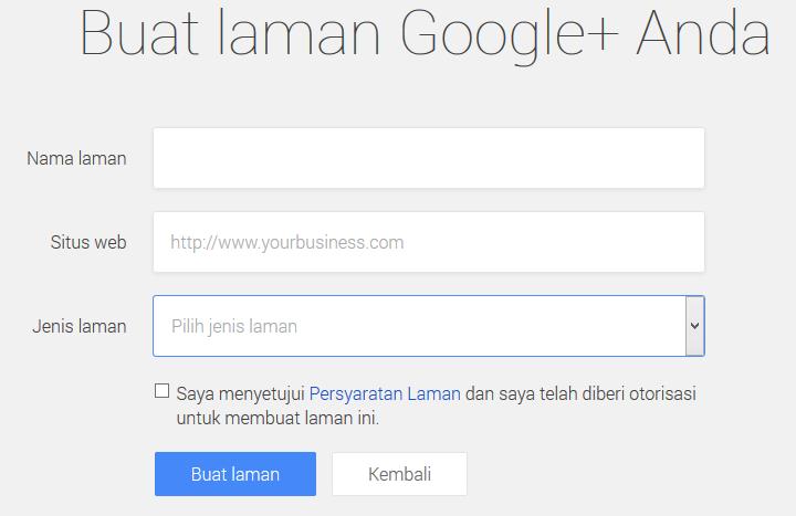 Membuat Halaman atau Fans Page di Google Plus