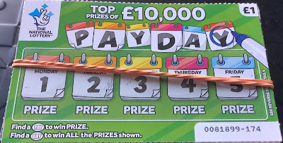 £1 Pay Day National Lottery Scratchcard