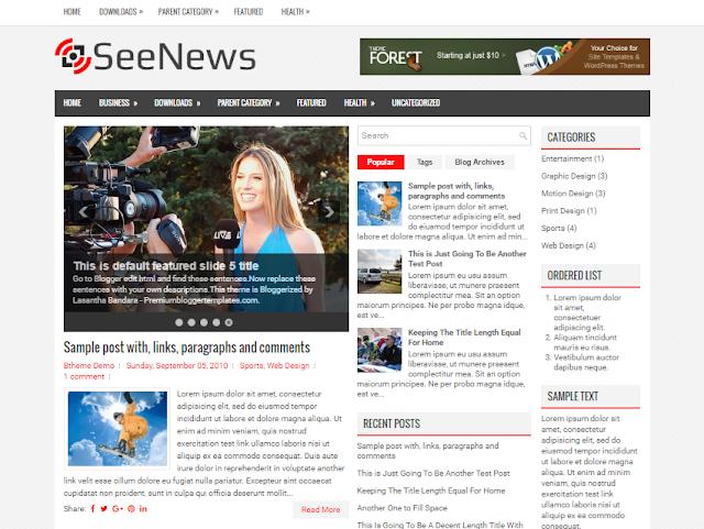 SeeNews Blogger Template