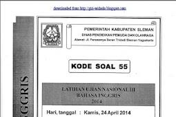 SOAL TPM SMP/MTs KABUPATEN SLEMAN Tahap 3 (23-24 April 2014) Bahasa Inggris