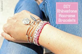 Rhinestone DIY Macrame Bracelet